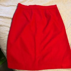Red Vintage Pencil Skirt